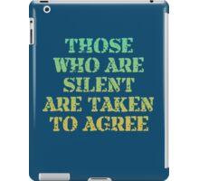 Those Who Are Silent iPad Case/Skin