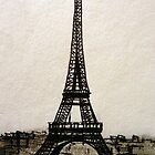 Postcard from Paris I - ink on paper by ChristineBetts