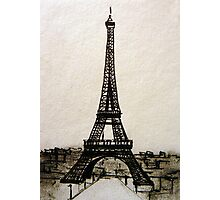 Postcard from Paris I - ink on paper Photographic Print