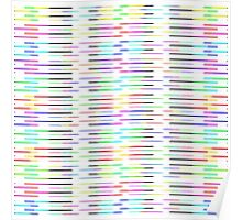 Colorful Rainbow Stripes Pattern Poster