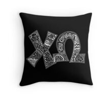 Chio Doodle Letters Throw Pillow