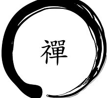 Zen Symbol with the word Zen in Chinese (Black) by ibadishi
