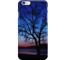 Oak Tree Silhouette Sunrise iPhone Case/Skin