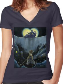 Attack on Hearts (Textless Version) Women's Fitted V-Neck T-Shirt