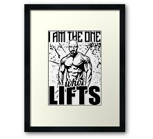 Breaking Bad I Am The One Who Lifts Framed Print