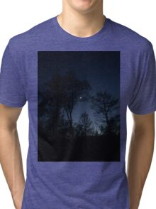 Dark Night Sky Picture  Tri-blend T-Shirt