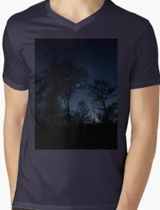 Dark Night Sky Picture  Mens V-Neck T-Shirt