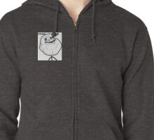 Forever alone  Zipped Hoodie