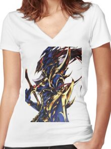 Black Luster Soldier Women's Fitted V-Neck T-Shirt