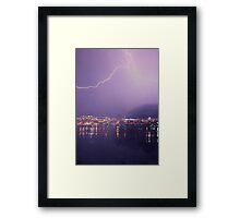 Stormy night ~ City by the Bay Framed Print