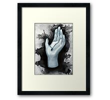 Dark Hand Framed Print