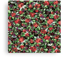 Red and Purple Floral Mash Up Canvas Print