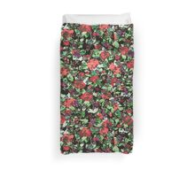 Red and Purple Floral Mash Up Duvet Cover