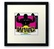 SFWWC Funky Retro Wrestling Logo 80s Style Framed Print