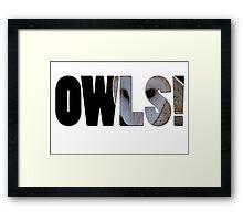 OWLS! Framed Print