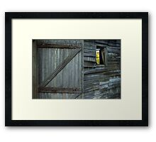 The Weathered Shed Framed Print