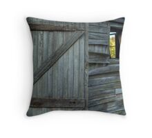The Weathered Shed Throw Pillow