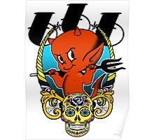 Red Devil & Sugar Skull! Poster