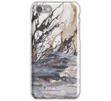 Desolation: A Winter Mixed Media Artwork iPhone Case/Skin
