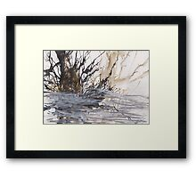 Desolation: A Winter Mixed Media Artwork Framed Print