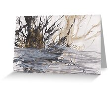 Desolation: A Winter Mixed Media Artwork Greeting Card