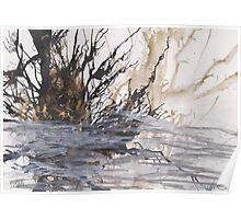 Desolation: A Winter Mixed Media Artwork Poster