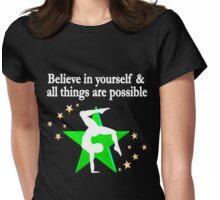 INSPIRING SUPER STAR GYMNAST Womens Fitted T-Shirt