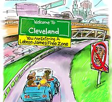 Cleveland A Lebron James-Free Zone by Rick  London