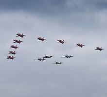 2015 Red Arrows and BBMF by MattyhallVMG