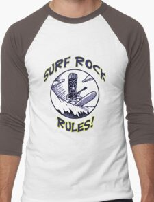 SURF ROCK RULES! Men's Baseball ¾ T-Shirt