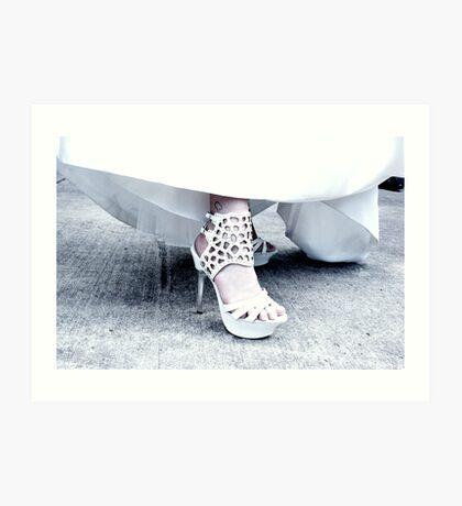 Die Schuhe Hoch Art Print