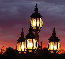 Lights and Sunset by Lucinda Walter