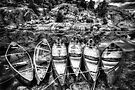 Monochrome Canoes by Bob Larson