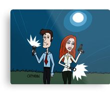 The X Files ... Mulder and Scully are Back  Metal Print