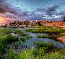 Sunset Rock by Bob Larson