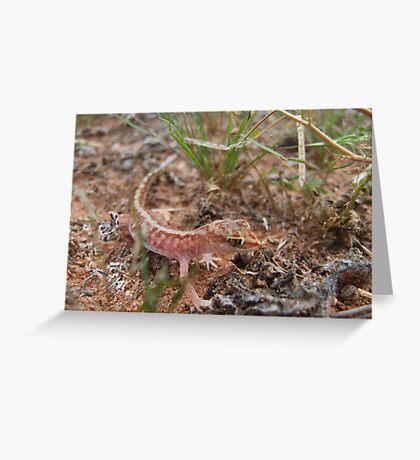 Beaded Gecko Greeting Card