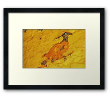 For Rose....a Chicken Stomping Away In A Huff  :-)) Framed Print