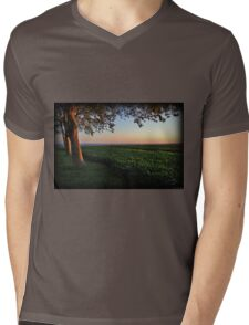 Golden Hour Valley View Mens V-Neck T-Shirt