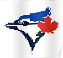 8 Bit Blue Jays Art Poster