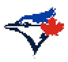 8 Bit Blue Jays Art Photographic Print