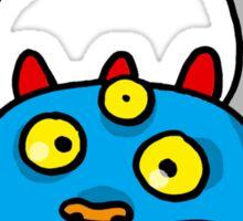 Panic 3 eyed monster cartoon Sticker