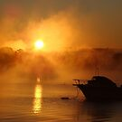 Raging sun steaming the water by Poete100