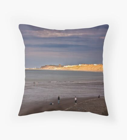 Sandsend to Whitby Throw Pillow