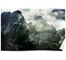 The rocks roar in silent wonder. Poster