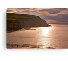 Sunset at Boulby Canvas Print