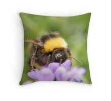 The Busy Bumble Bee (Cropped) Throw Pillow
