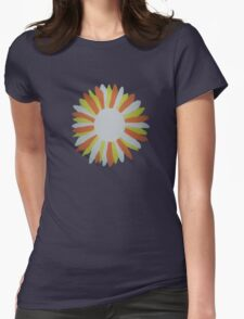 White Sunflower Womens Fitted T-Shirt