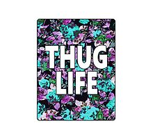 """""""Thug Life"""" Floral Typography by Blkstrawberry"""
