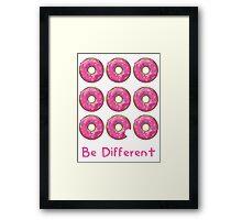 Be different Framed Print