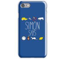 Simon Says (White Lettering) iPhone Case/Skin